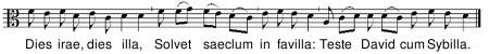 Dies Irae -melodia