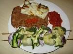 Valmiit grilliruoat lautasella